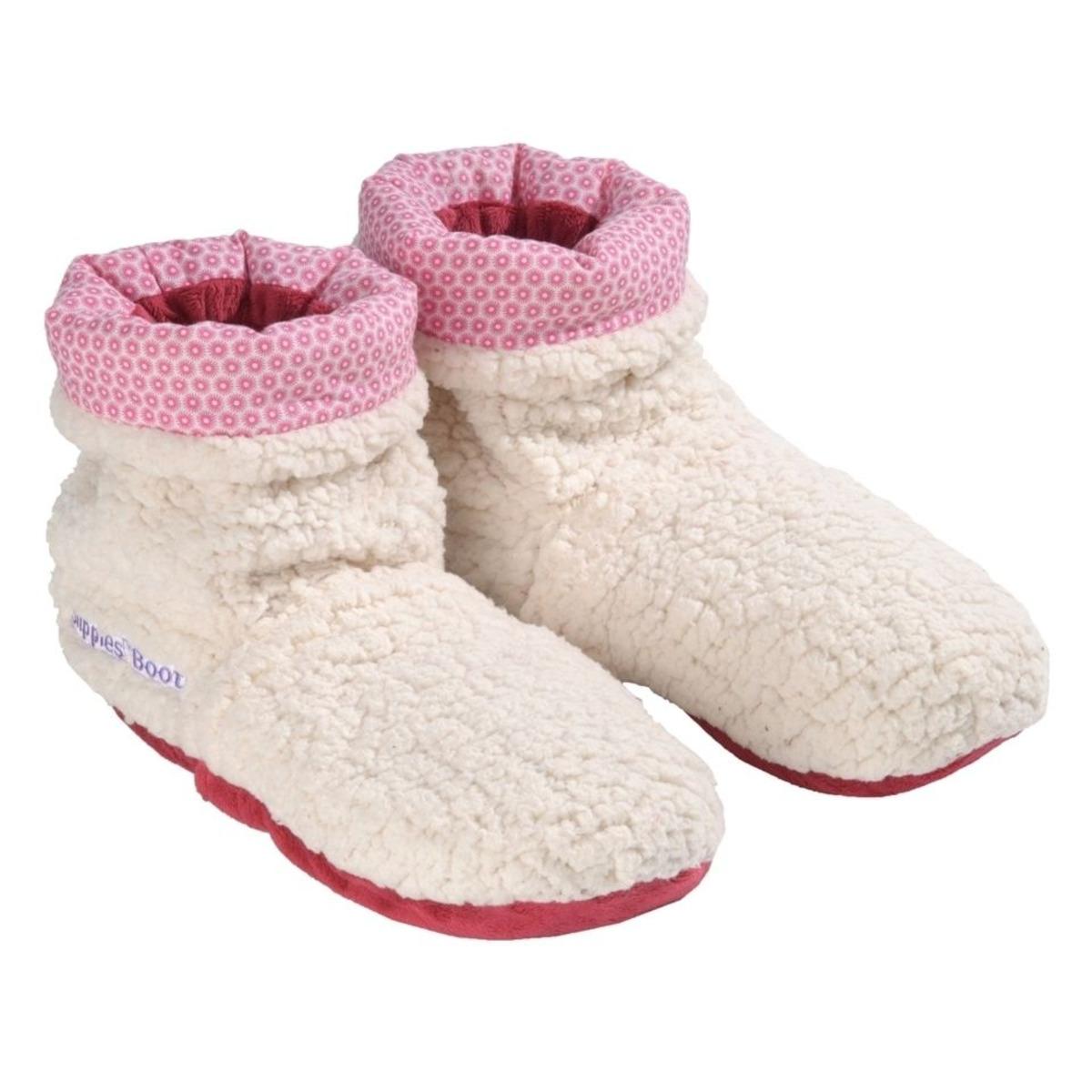 Плюшени нагряващи се и охлаждащи се ботуши бежово-розово(37-42) от Warmies