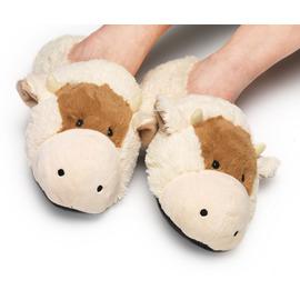 Плюшени нагряващи се Чехли Крава за деца Cozy Head Kids Cow